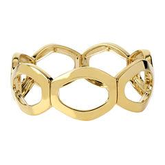 Worthington® Gold-Tone Openwork Oval Link Stretch Bracelet