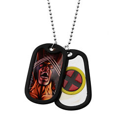 Marvel Wolverine Mens Stainless Steel Double Dog Tag Pendant Necklace
