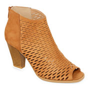 CL By Laundry Real Nice Peep-Toe Ankle Shooties