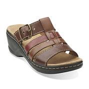 Clarks® Lexi Alloy Slide Strap Sandals