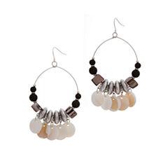 EL by Erica Lyons El By Erica Lyons Black Naturals Shell Drop Earrings
