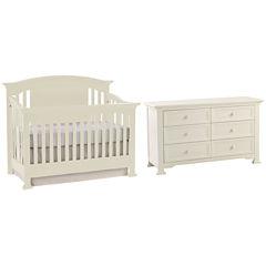 Munire Medford 2-PC Baby Furniture Set- White