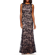 R&M Richards Sleeveless Formal Lace Gown