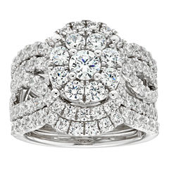 3 ct tw diamond 10k white gold engagement ring - Jcpenney Wedding Ring Sets
