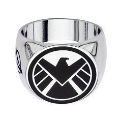 Marvel Agents of S.H.I.E.L.D. Logo Mens Stainless Steel Ring