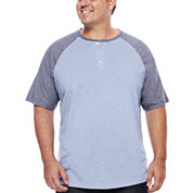 The Foundry Supply Co.™ Short-Sleeve Colorblock Henley Shirt - Big & Tall