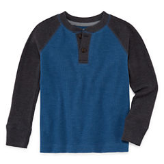 Arizona Boys Thermal Henley T-Shirt