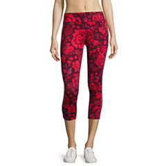 Flirtitude Floral Performance Crop Pant- Juniors