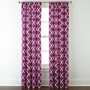 Home Expressions™ Thermal Trellis Rod-Pocket Curtain Panel