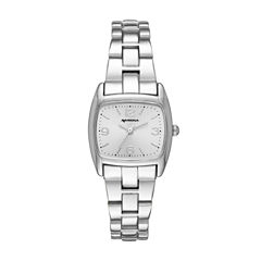 Arizona Silver Tone Rectangular Dial Bracelet Watch
