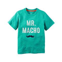 Carter's® Short-Sleeve Turquoise Macho Slogan Knit Tee - Boys 4-8