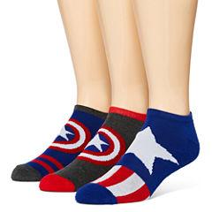Marvel® Captain America 3-pk. Low-Cut Socks