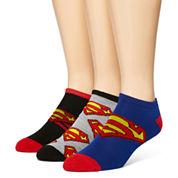 DC Comics® Superman 3-pk. Low-Cut Socks