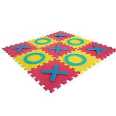 Hey! Play! Giant Interlocking Foam Square Tic-Tac-Toe Game