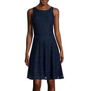 Speechless® Sleeveless Glitter Lace Fit-and-Flare Dress