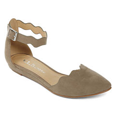 CL By Laundry Swell Ankle-Strap Flats