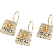 Avanti Texas Lone Star Shower Curtain Hooks