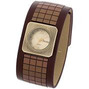 Decree® Womens Wide-Strap Tile Watch
