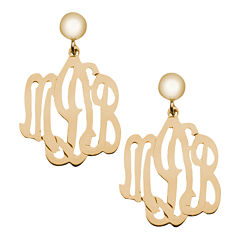 Personalized 12K Gold-Filled Monogram Drop Earrings