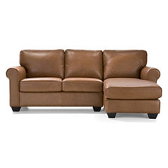 Leather Possibilities Roll-Arm 2-pc. Right-Arm Sectional