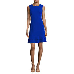 Ronni Nicole Sleeveless Sheath Dress-Petites