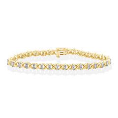2 CT. T.W. Diamond 10K Yellow Gold Bracelet