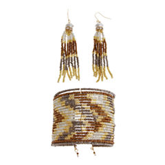 EL by Erica Lyons El By Erica Lyons Sdbd Cuff And Ears Womens 2-pc. Gold Over Brass Jewelry Set