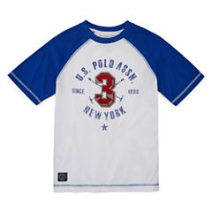 U.S. Polo Assn. Short Sleeve Crew Neck T-Shirt-Big Kid Boys