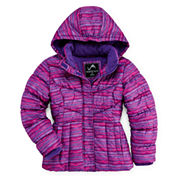 Vertical 9 Hooded Puffer Jacket - Girls 7-16 and Plus