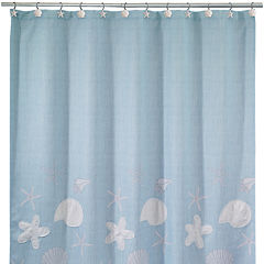 Avanti Sequin Shell Shower Curtain