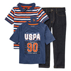 Us Polo 3 Pc Pant Set