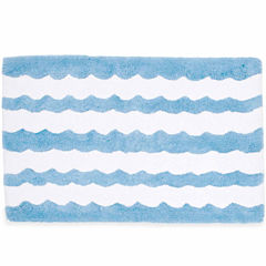 Destinations Wave Scallop Bath Rug