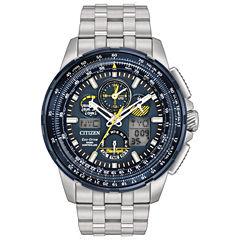 Citizen Mens Silver Tone Bracelet Watch-Jy8058-50l