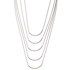 a.n.a® Silver-Tone Multi-Row Necklace