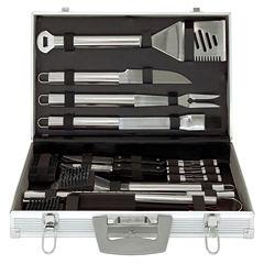 Mr. Bar B Q 30-pc. Tool Set with Aluminum Case