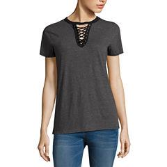 Arizona Lace Up T-Shirt- Juniors
