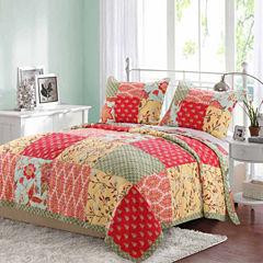 Barefoot Bungalow Eva Floral Quilt Set
