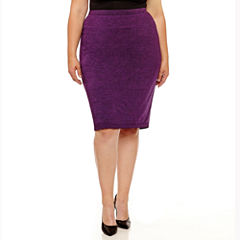 Liz Claiborne Knit Pencil Skirt-Plus