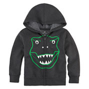 Okie Dokie® Printed Fleece Hoodie - Toddler Boys 2T-5T