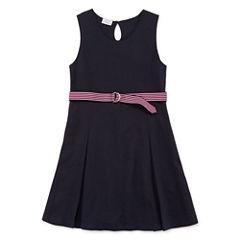 IZOD® Sleeveless Belted Knit Dress - Girls 7-16 and Plus