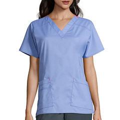 WonderWink® Womens Short-Sleeve Verity V-Neck Top