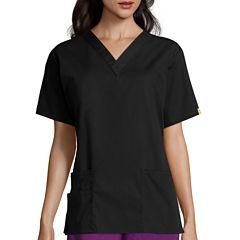 WonderWink® Womens Bravo Short-Sleeve 5-Pocket V-Neck Top