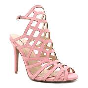 Qupid Ara Caged High Heel Sandals