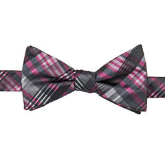 J.Ferrar Plaid Bow Tie