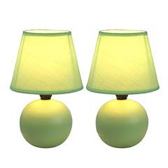 Simple Designs 2-pc. Table Lamp
