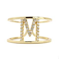 Sparkle Allure Adjustable Gold M Band