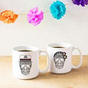 Cathy'S Concepts His & Hers Sugar Skull Large 20-Oz. Coffee Mug Set