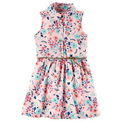 Carter's Sleeveless Floral A-Line Dress - Toddler Girls