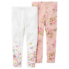 Carter's Floral Knit Leggings - Toddler Girls