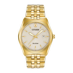 Citizen® Eco-Drive® Corso Mens Gold-Tone Stainless Steel Watch BM7332-53P